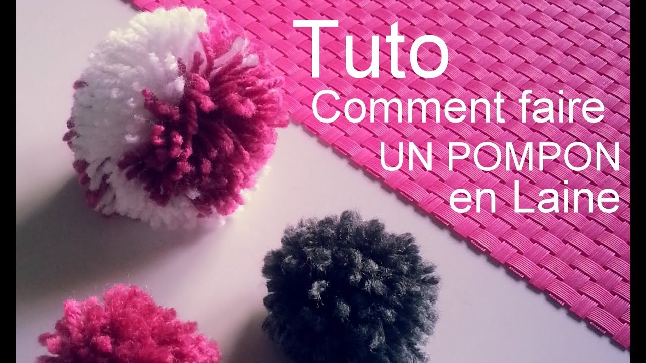 cr ation d i y tuto comment faire un pompon en laine youtube. Black Bedroom Furniture Sets. Home Design Ideas