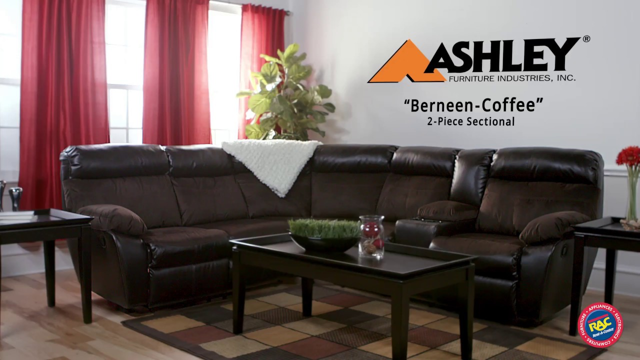 Ashley Berneen Sectional Takes Reclining To The Next Level By Rent A Center