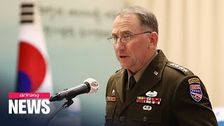 USFK Commander says no imminent sign of N. Korean missile launch