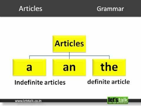 English Grammar - Articles. www.letstalk.co.in.MP4