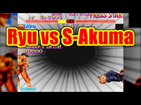 Ryu vs Super-Akuma - SUPER STREET FIGHTER II Turbo