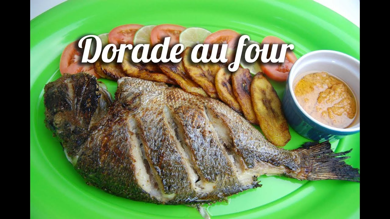 Dorade au four aux pices africaines youtube - Cuisson daurade au four ...