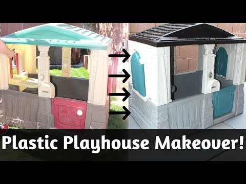 Plastic Playhouse Makeover! DIY