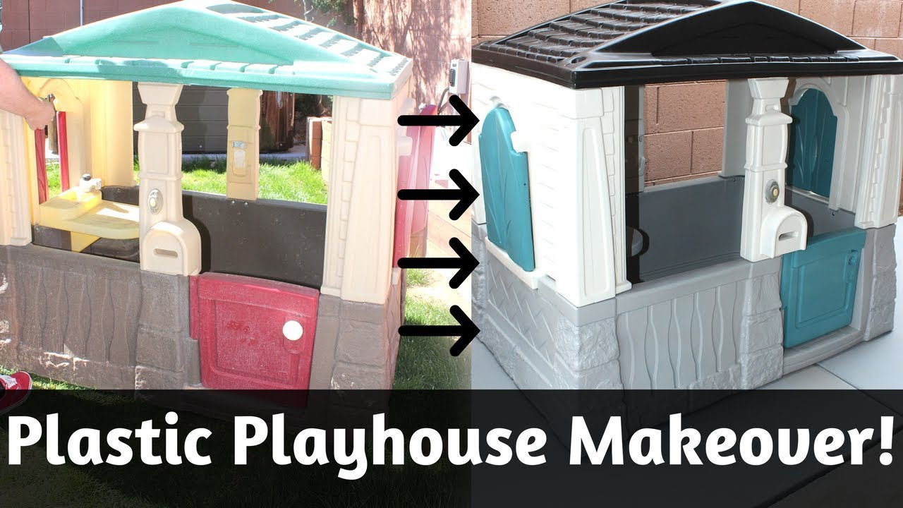 Plastic Playhouse Makeover Diy