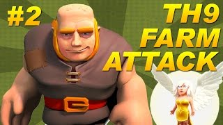 BEST Town Hall 9 (TH9) Farming Attack Strategy -Giants + Healers -Dark Elixir -Clash of Clans #2