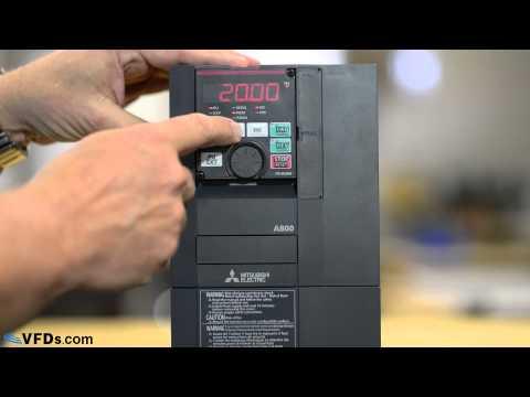 How to program the Mitsubishi A800 series VFD (A820, A840) thumbnail