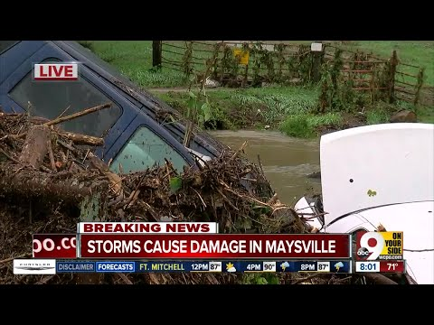 Maysville flood damage: Mayor says he's not seen rainfall cause damage like this