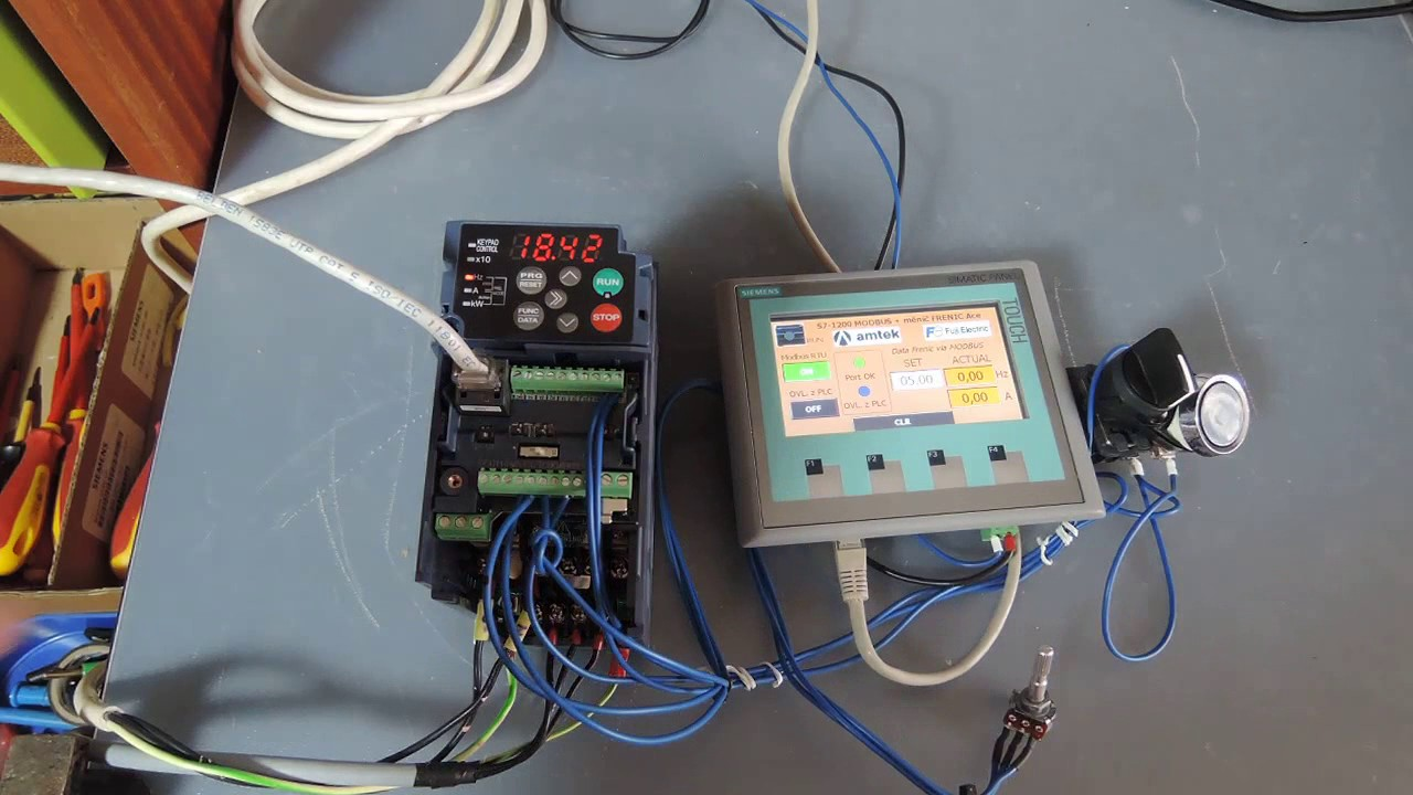 S7 1200 And Frenic Ace Controls Via Rs485 Modbus Rtu Youtube