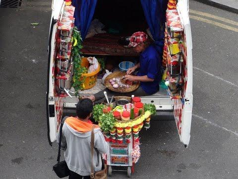 "Kolkata Indian Street Food by ""Everybody Love, Love Jhal Muri Express at Alchemy Festival, London."