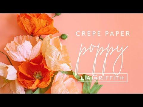 Lia Griffith Crepe Paper - Poppy