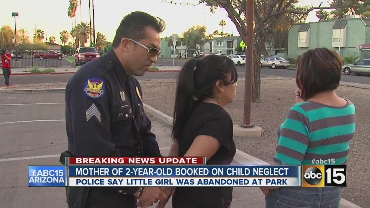 Police say 2-year-old girl abandoned at park.