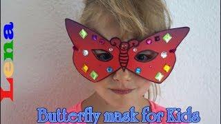 как сделать маску из бумаги бабочку