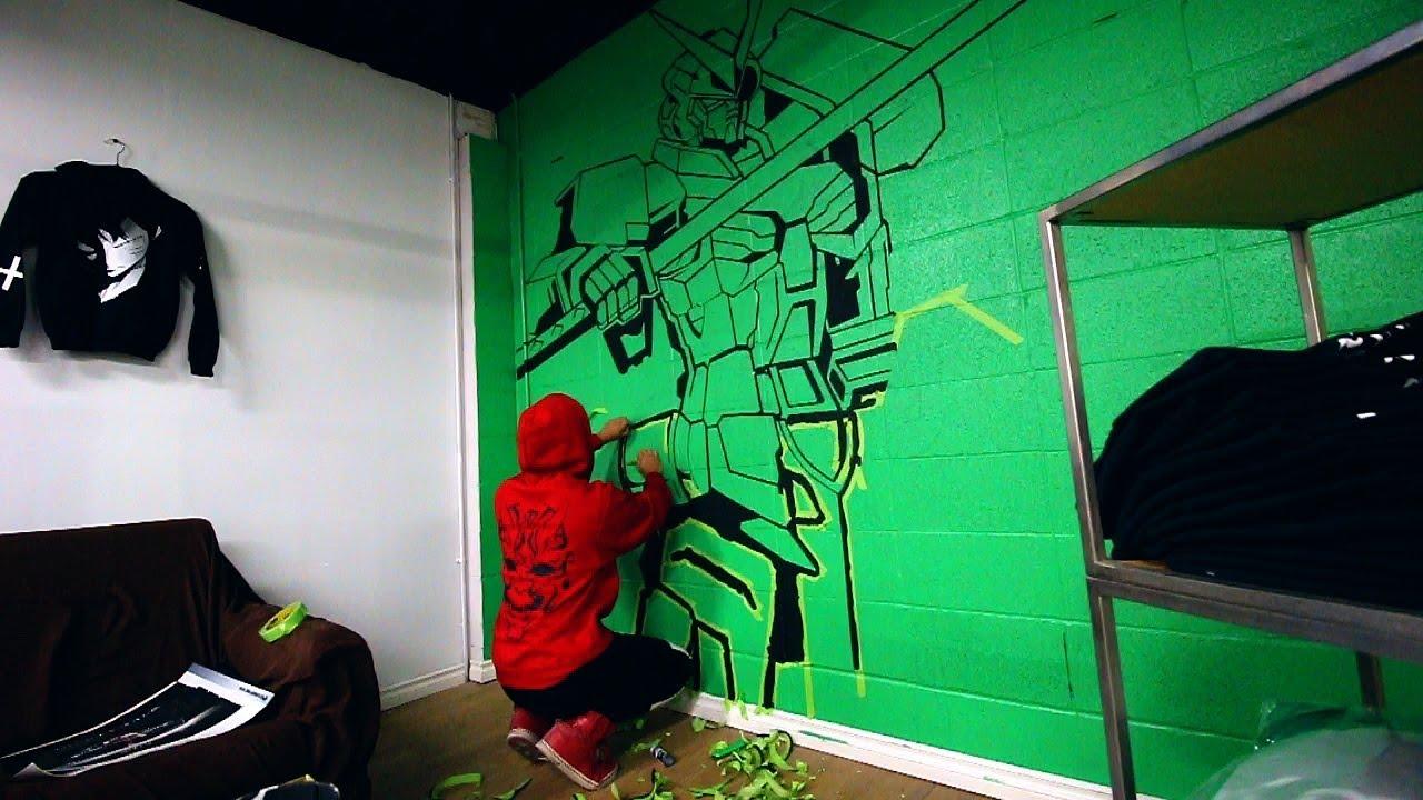 Gundam Wall Mural II New Store YouTube
