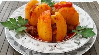 Tencerede Köfteli Patates Tarifi-En Kolay Patates Yemeği-Yemek Tarifleri-Gurbetinmutfagi