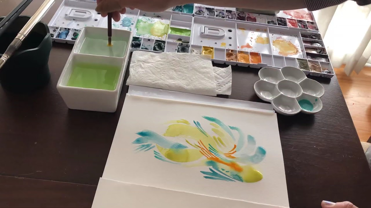 Abstract Watercolor Painting: How It's Made by Sarah M Johnson Art