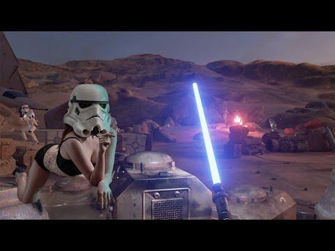 Star Wars Trials On Tatooine В шкуре ДЖЕДАЯ (#HTC Vive)