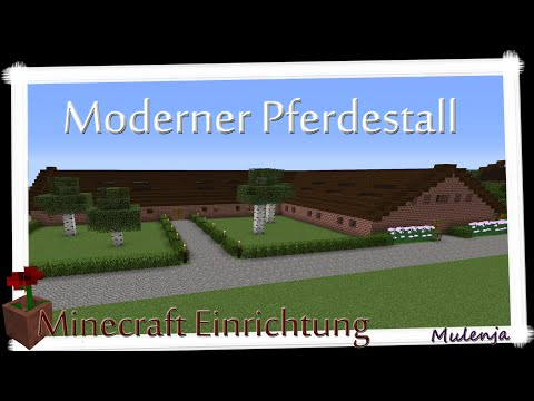 Minecraft - Moderner Pferdestall / Einrichten In Minecraft