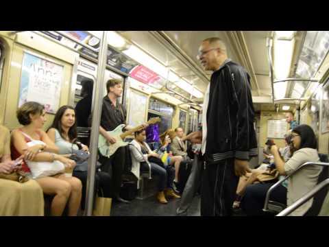 Fantastic street music in a subway in Manhattan, New York