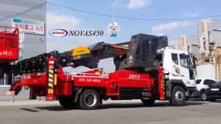 Aerial work platform truck NOVAS 450 Автовышки(NOVAS aerial work platform truck! NOVAS 450! Автовышки Working height: 45m Truck: Daewoo 5ton Inquiry: novas@novaskorea.co.kr planner87@naver.com., 2015-03-26T09:15:07.000Z)