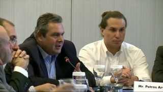 Ομιλία Πάνου Καμμένου στο round table του Συνεδρίου του ΙΓΜΕΑ