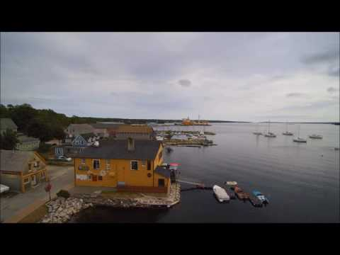 First drone video of Shelburne Nova Scotia waterfront