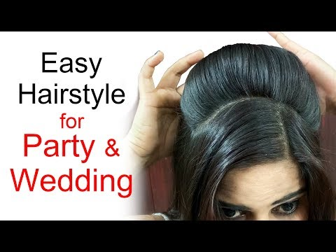 Easy Wedding Hairstyles | Puff Hairstyles | Hairstyles for medium or long hair