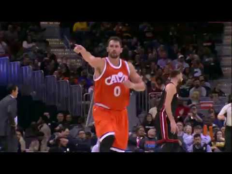 Kevin Love Scores 28 Points to Cool off the Heat | 12.09.16