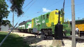 Illinois Railway Museum Diesel Days 2013 part 1. Pre-Parade action