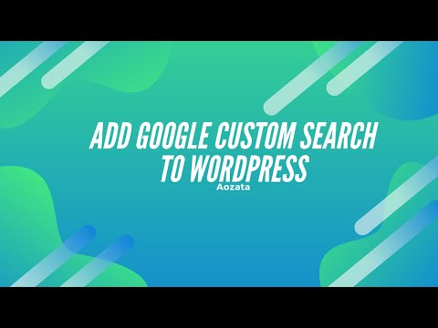 How to add google custom search to a wordpress site