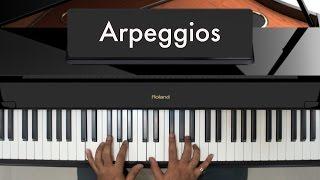 Learn Piano From Basics - Lesson 13 (Arpeggios)   www.10MagicalFingers.com