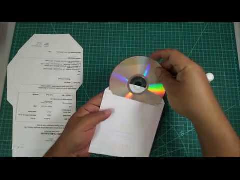 Recycle paper craft : CD or DVD Envelope    sampul cd buat sendiri.... jimat