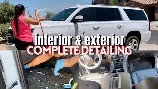 HOW TO DEEP CLEAN AN SUV DETAILING/ FULL CARWASH