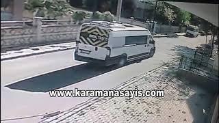 Okul servisi kaza anı