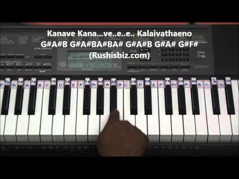 Kanave Kanave - Piano Tutorials - David Movie | DOWNLOAD NOTES FROM DESCRIPTION