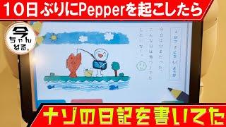 10日ぶりに起こされたPepperさんの絵日記編