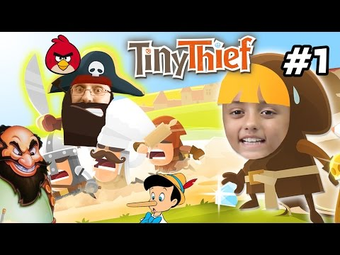 Lets Play TINY THIEF!  Monkey Poop, Pinocchio & Stromboli?   (Lex, Chase & Duddy FGTEEV Gameplay)