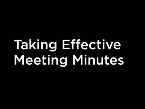tips for effective meeting minutes youtube