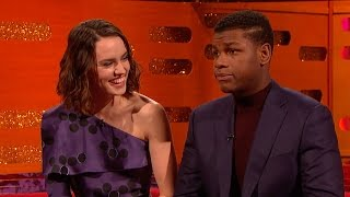 John Boyega and Daisy Ridley on Star Wars secrecy - The Graham Norton Show Series 18 - BBC