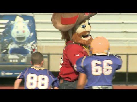 Pee Wee vs. NFL mascots in Carmel