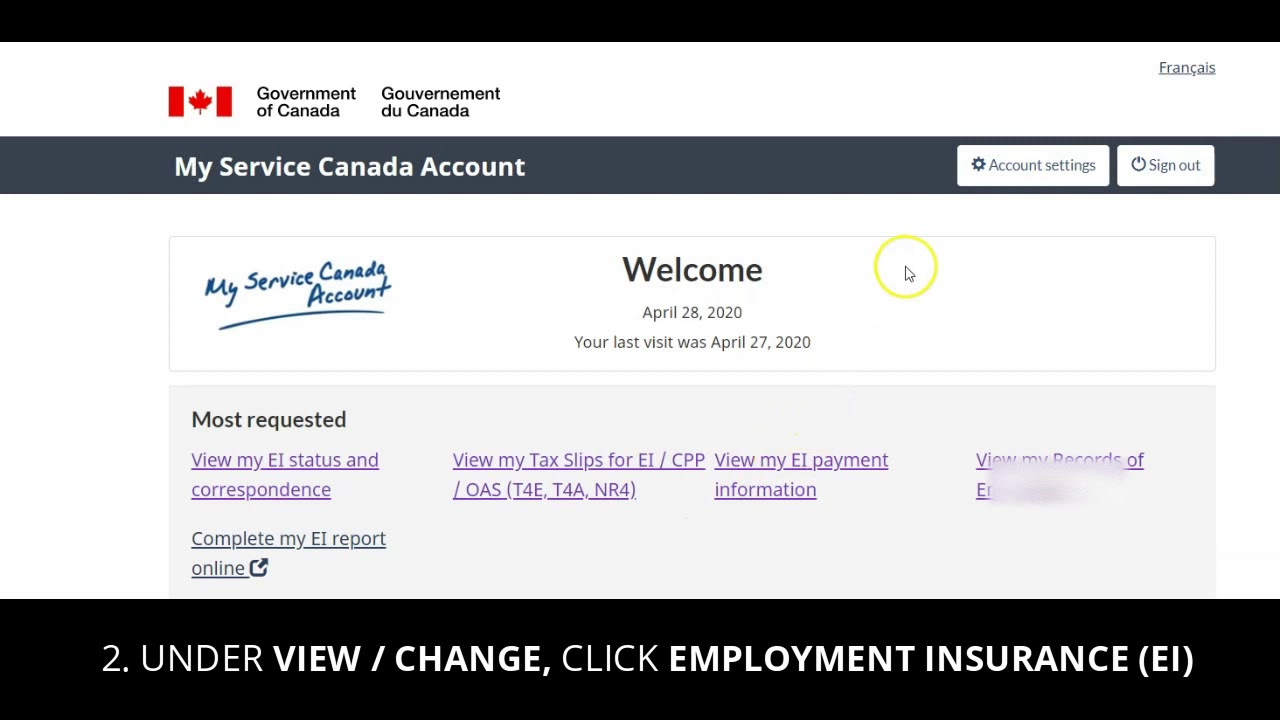 Find Your Access Code For Ei Employment Insurance Canada Youtube