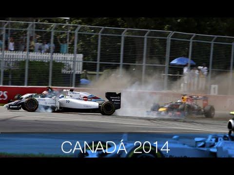 Felipe Massa y Sergio Pérez accidente en Canadá 2014 [ Amateur Camera ]