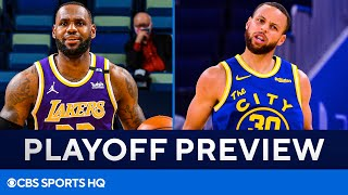 LeBron James, Lakers face off against Stephen Curry, Warriors | NBA Playoff Preview | CBS Sports HQ
