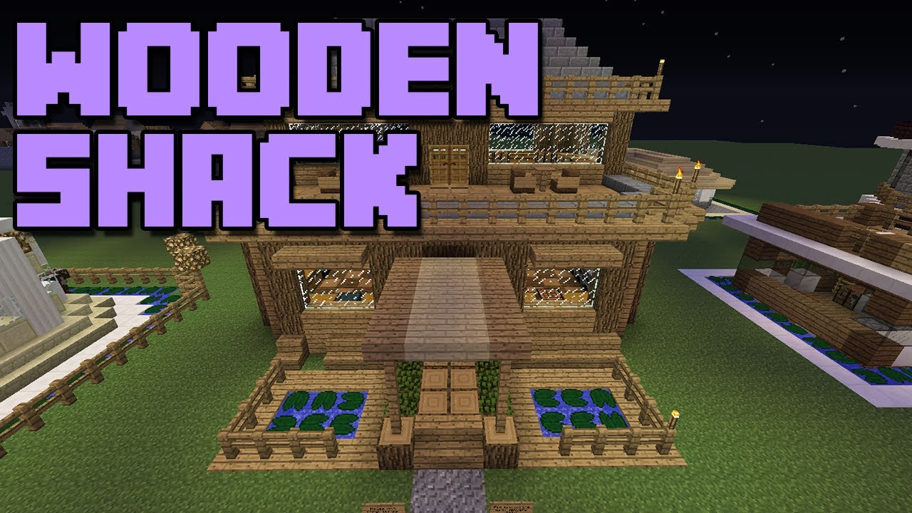 Minecraft house let 39 s build tutorial series episode 1 for How to build a small shack