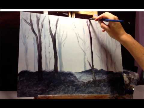 Acrylic Painting Dark Background