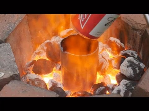 Making A Crucible For Melting Aluminum Cans