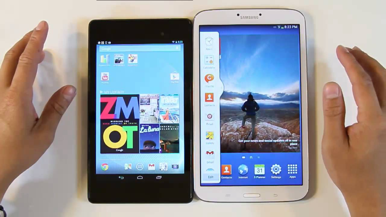 samsung galaxy tab 3 8 0 vs google nexus 7 2nd generation youtube
