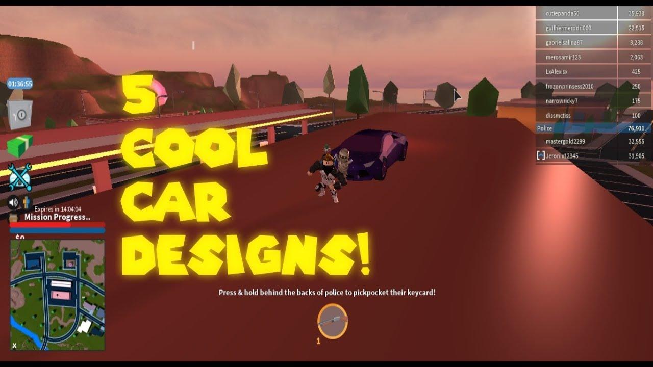 Roblox Jailbreak Best Car Design 5 Cool Car Designs Roblox Jailbreak Youtube