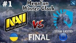 НАВИ в ФИНАЛЕ!   Na`Vi vs Liquid #1 (BO5)   MegaFon Winter Clash