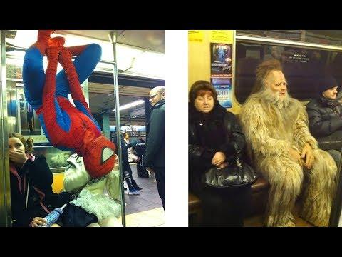 Лютые пассажиры в метро. Бэтмэн против Дартвейдера