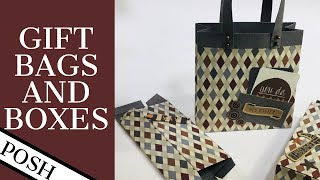 STYLISH GIFT BAG AND GIFT BOX SETS FOR HIM/ EASY DIY PAPER CRAFT IDEAS FOR MEN/ DIY Bags & Boxes